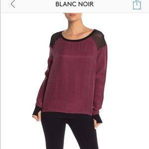 Blanc Noir   maroon pull over • Small